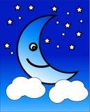 Lycklig Moon vektor illustrationer