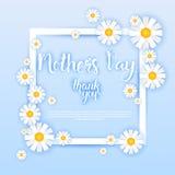 Lycklig mors dag baner för kort för vårferiehälsning royaltyfri illustrationer
