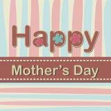 Lycklig mors dag - vektorkort Arkivfoton