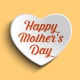 Lycklig mors daghjärtabakgrund Royaltyfria Bilder