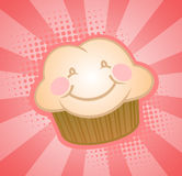 lycklig muffin Royaltyfri Fotografi