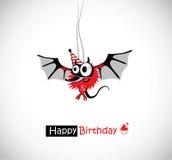 lycklig mus för födelsedag stock illustrationer