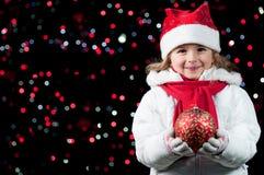 lycklig natt för jul Arkivfoton