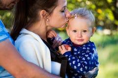 lycklig natur för familj Fotografering för Bildbyråer