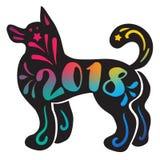 Lycklig ny 2018 år bokstäver Arkivfoto