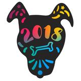 Lycklig ny 2018 år bokstäver Arkivbild