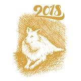 Lycklig ny 2018 år bokstäver royaltyfri illustrationer
