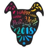 Lycklig ny 2018 år bokstäver stock illustrationer