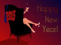 Lycklig ny 2015 Arkivbild