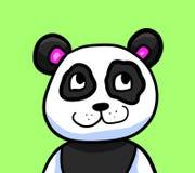 Lycklig nyfiken panda vektor illustrationer