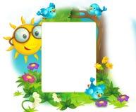 Lycklig och färgrik ram för barnen Arkivbild