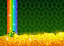 Lycklig och Lucky St Patricks Day hälsningkort royaltyfri illustrationer