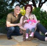 Lycklig olik familj Royaltyfria Bilder
