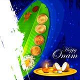 Lycklig Onam ferie för södra Indien festivalbakgrund royaltyfri illustrationer