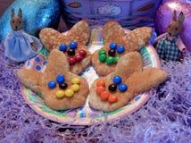 Lycklig påsk Bunny Pancakes 1 royaltyfri foto