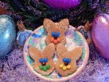 Lycklig påsk Bunny Pancakes 2 arkivbilder