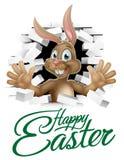 Lycklig påsk Bunny Sign Fotografering för Bildbyråer