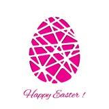 Lycklig påsk dekorerat pappers- ägg, vektordesign Royaltyfri Foto
