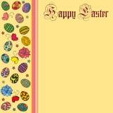 Lycklig påsk för vektorhälsningkort stock illustrationer