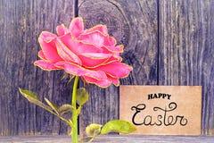 Lycklig påsk! - kort royaltyfri fotografi