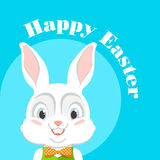 Lycklig påsk med påskkaninen vektor Arkivfoton
