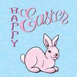 Lycklig påsk. Påsk Bunny Ears Royaltyfri Fotografi