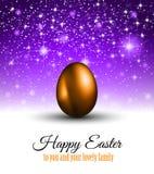 Lycklig påskbakgrund med ett färgrikt ägg med skugga vektor illustrationer