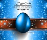 Lycklig påskbakgrund med ett färgrikt ägg med skugga stock illustrationer