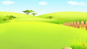 Lycklig påskkanin som går med det färgrika stora ägget vektor illustrationer