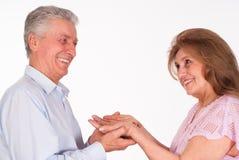 lycklig paråldring Royaltyfri Fotografi