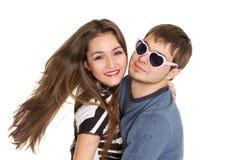 lycklig pardans Arkivfoto