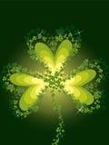 lycklig patrick för växter av släkten Trifolium saint royaltyfri illustrationer