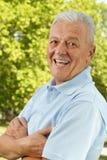 lycklig pensionär Fotografering för Bildbyråer