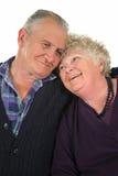 lycklig pensionär för 2 par Fotografering för Bildbyråer