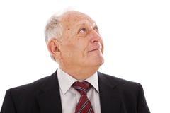 lycklig pensionär för affärsman Royaltyfri Fotografi