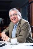 lycklig pensionär för affärsman Royaltyfri Foto