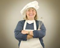 lycklig pensionär för kock Arkivbilder