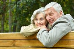 lycklig pensionär för par Royaltyfri Foto
