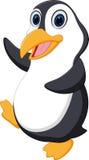 Lycklig pingvintecknad film stock illustrationer