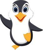 Lycklig pingvintecknad film royaltyfri illustrationer