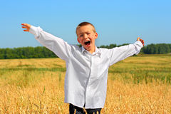 lycklig pojke Arkivfoto