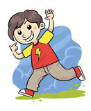 lycklig pojke Vektor Illustrationer