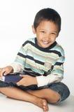 Lycklig pojke Arkivfoton