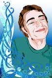 lycklig pojke royaltyfri illustrationer