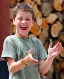 lycklig pojke Royaltyfria Foton