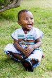 lycklig pojke little Arkivfoto