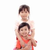 lycklig pojkeflicka Royaltyfri Bild