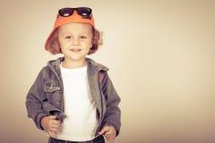 Lycklig pojkemodell Lycklig pojkemodell Royaltyfri Foto