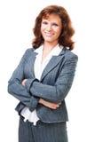 lycklig positiv kvinna för affär Royaltyfria Foton