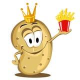 lycklig potatis Fotografering för Bildbyråer